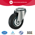 Bolt Hole Swivel Black Rubber Industrial Castors