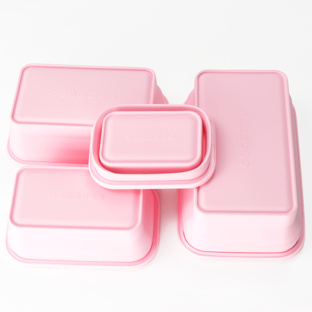 Silicone Food Storage Containers With Airtight Plastic