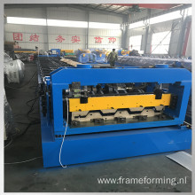 Floor support plate roll forming machine
