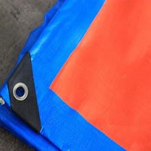 China Cheap price for Orange PE Tarpaulin Orange Blue Tarpaulin Ready Made Sheet export to Spain Exporter