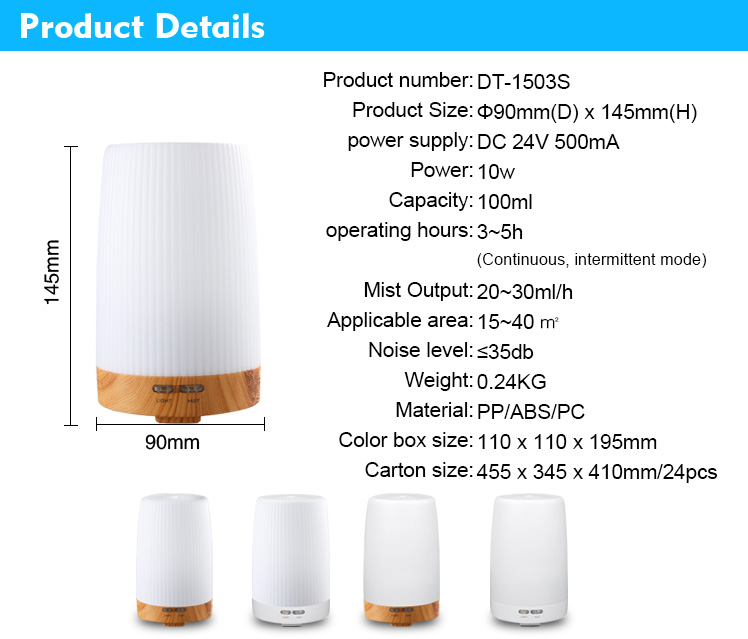 100ml scent aromatherapy oil diffuser portable