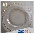 Gold And Silver Beaded Charger Plate