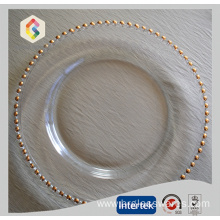 Special Design for Gold Charger Plates Gold And Silver Beaded Charger Plate supply to East Timor Manufacturers