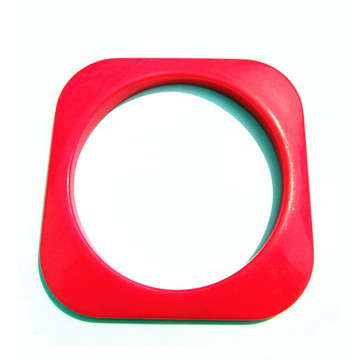 Square Plastic Acrylic Bangle Wholesale Plastic Jewelry
