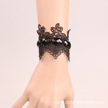 Customized for Flower Lace Bracelet Black Lace Bracelet With Gemstone Hockey Lace Bracelet export to Svalbard and Jan Mayen Islands Factory