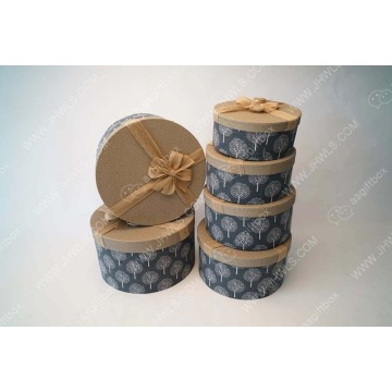 Handmade Flower Gift Box Decorated with Patterns