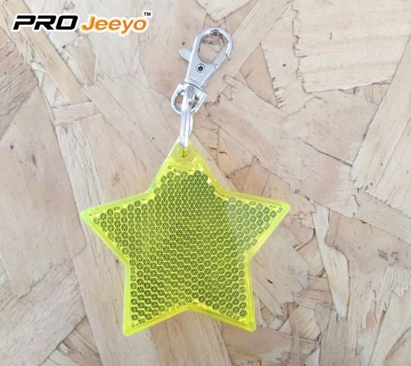 2 LED Light Reflective Star Hanger Key chain for Children Bag RB-503D 1