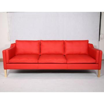 China for Adjustable Leather Sofa Borge Mogensen 2213 3 Seater Leather Sofa Replica supply to France Exporter