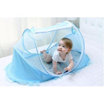 baby cradle mosquitoes bed net with pads ,pillow and music