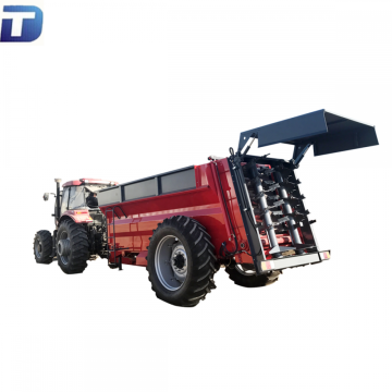 Agricultural tractor fertilizer distributor