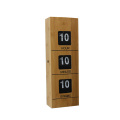 Dynamic Cuboid Wooden Flip Clock