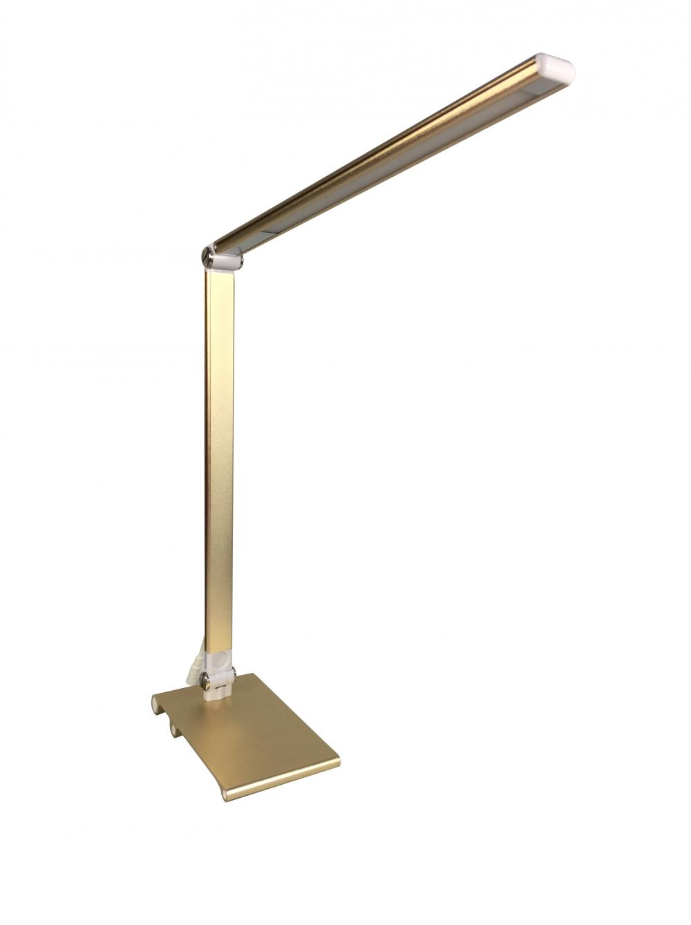 Golden Color Anodizing Aluminum Desk Lamp Metallic Sense