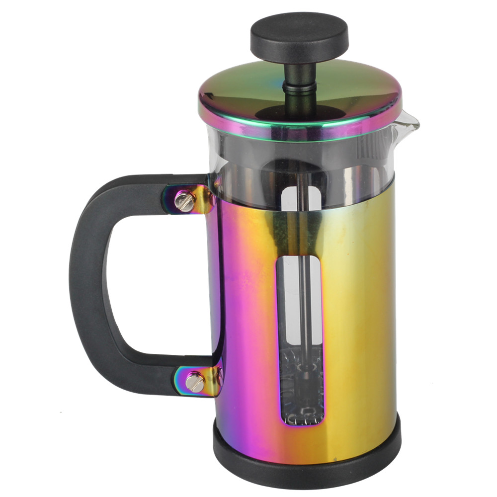 Colorful French Press Glass Coffee Kettle