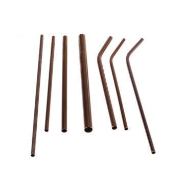 Copper Food Grade Stainless Steel Drinking Straws Set