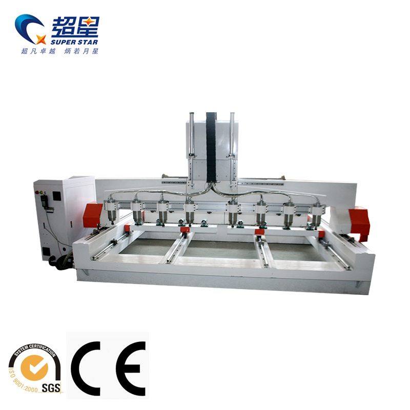CNC 4 Axis 8 Heads Machinery
