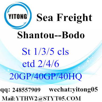 Shantou Ocean Freight Rate to Bodo