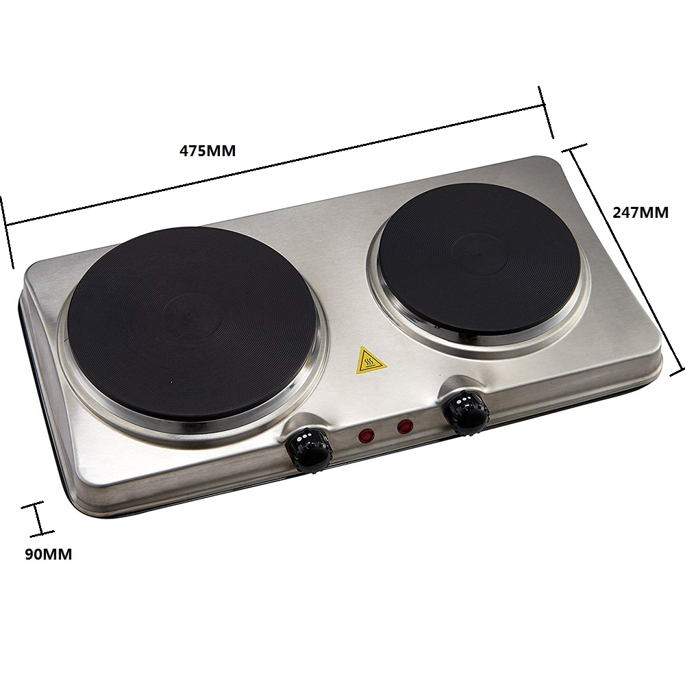 Silver Portable Electric Cooktop
