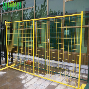 Yellow CA Temporary fence panel portable fence