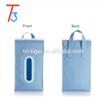 Foldable hanging fabric tissue box