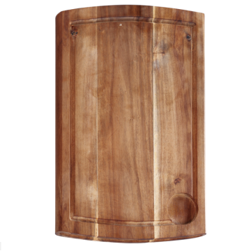 Rectangle wooden cutting board with well
