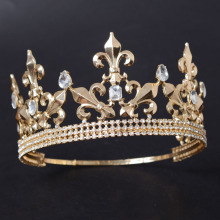 Gold Metal Flower-de-luce Pageant Tiaras