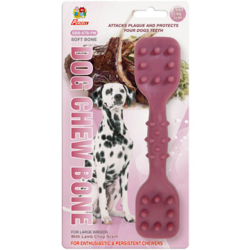 "Percell 7.5"" Dura Chew Toy Dumbbell Lamb Scent"