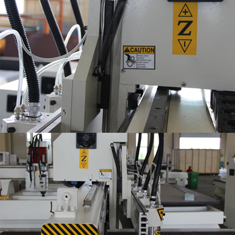 1 head 4 spindles cnc funiture processing machine