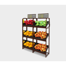 New Fashion Design for Vegetable & Fruit Shelves Latest Design Fruit and Vegetable Display Rack export to St. Pierre and Miquelon Wholesale