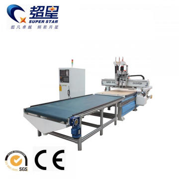 Cnc Router with Auto Feeding System for Woodworking