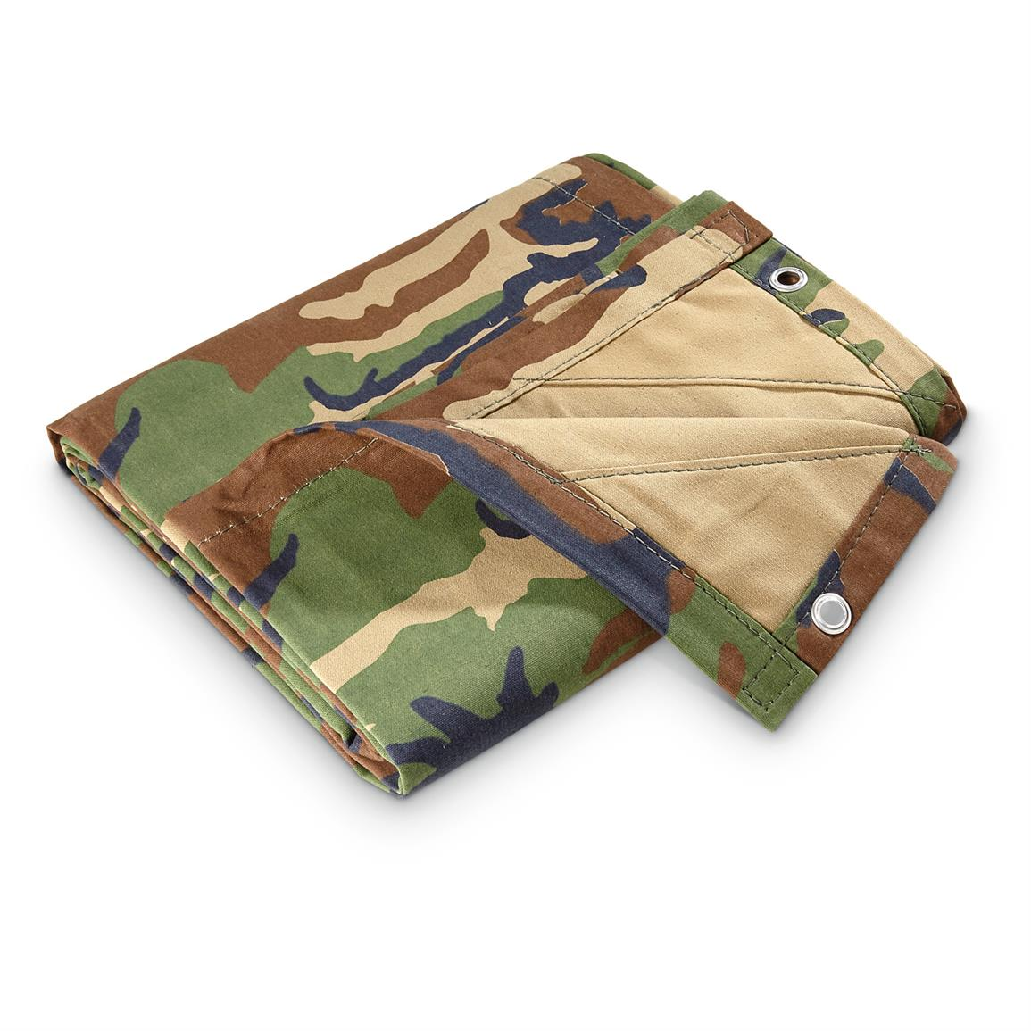 Camouflage canvas tarp