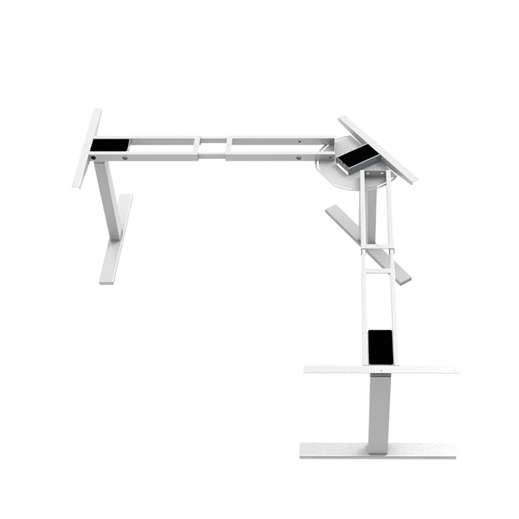 L Shaped Office Desk Stand Up Sit Down