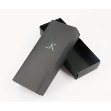Black Clothing Cardboard Packaging Printed Logo Box