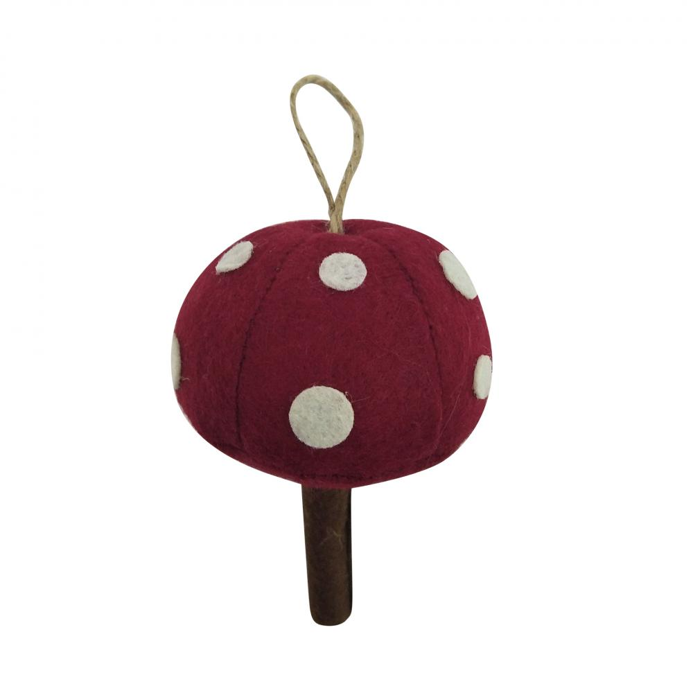 Christmas Mushroom Shape Hanging Ornaments