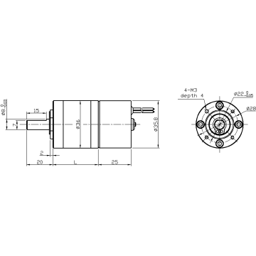 DM-36RPBL 3625 brushless planetary gear motor