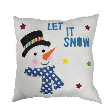Christmas cute snowman pillow
