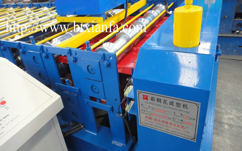 aluminum double layer roll forming machine