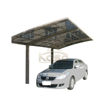 Wood Arched Carport With Polycarbonate Shelter Roof