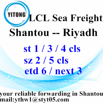 Professional sea freight service from Shantou to Riyadh