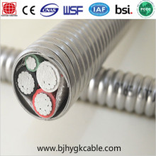 Mc كابل متشابكة ألومنيوم مدرعة كابل 600V Mc AC Bx Cable