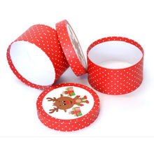 Custom Round Paper Gift Christmas Package Box