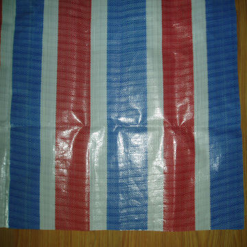 Multi Colors Striped Tarpaulin Waterproof Fabric