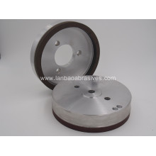Resin bond grinding wheel for glass