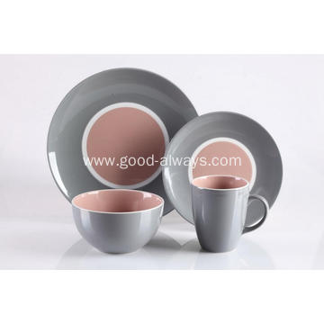 16 Pieces Stoneware Place Setting Dinnerware Set
