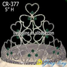 Wholesale Custom Rhinestone Heart Valentine'S Day Crown