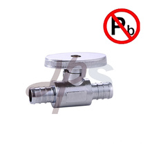 Lead free brass supply angle valve for PEX tube