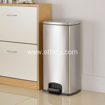 Dustbin stainless steel foot type household use