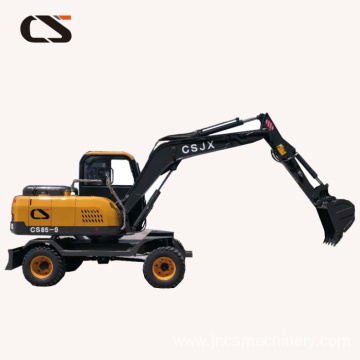 construction equipment 8 Tons digger wheel excavator