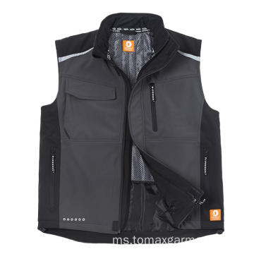 Softshell Bodywarmer Water-repellent vestproof dan bernafas