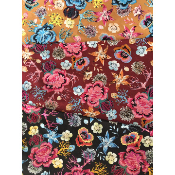 Marine Plants Rayon Poplin 45S Light Printing Fabric