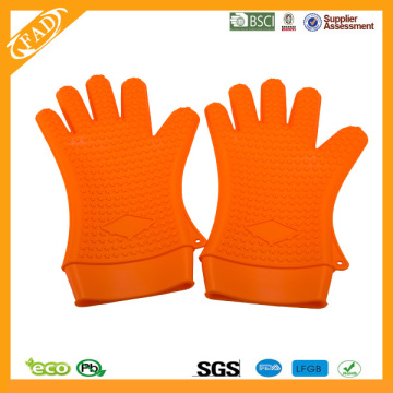High Quality for Heat Resistant Silicone Gloves Wholesale Reusable FDA Grade Grill silicone gloves xxl export to Belarus Exporter